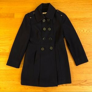 Kenneth Cole Navy Wool Long Pea Coat